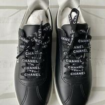 Chanel Weekend Tennis Sneakers Size 36 Black/white Leather Lace Up Photo