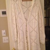 Chanel White Cotton Long Sweater  Photo