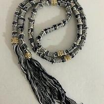 Chanel Women's Black White Boucle Tweed Ribbon Belt 68