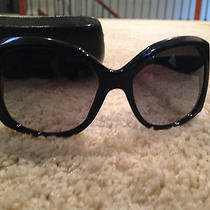 Chanel Women's Mother of Pearl Black Round Sunglasses Photo