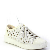 Chanel Womens Lace Cutout Sneakers White Size 36.5 Photo