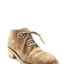 Chanel Womens Lace Up Casual Ankle Booties Beige Cork Size Eur 39.5 Photo