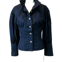 Chanel Xs 2 34 1750 Shirt W/ Corset Cc Buttons Must See Boning Corset Contruct Photo
