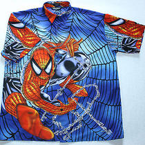 Changes Spiderman Marvel Peter Parker Super Hero Web Polyester S/s Shirt L Photo