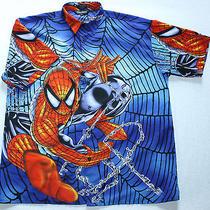 Changes Spiderman Marvel Peter Parker Super Hero Web Polyester S/s Shirt L Photo