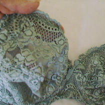 Chantel 34d Sea Mist Green Bra Wires No Padding Lace Cups All Sheer Top Cup  Photo