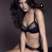 Chantelle 3582 C Chic 3 Part Cup 38ddd Black Underwire Sexy Mesh Full Cup Photo