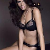 Chantelle 3582 C Chic 3 Part Cup 38h Black Underwire Sexy Mesh Full Cup Photo