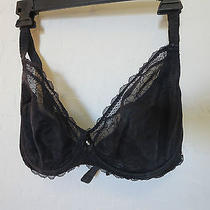 Chantelle 36ddd Black Soft Cup Scallop Lace Cup Underwire 9051 Photo