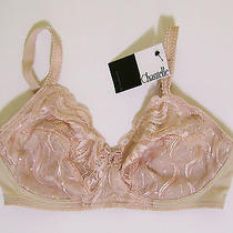 Chantelle Bra 34c Lace Wireless Full Cups 2502 Beige Band 34 C Solid Wirefree Photo