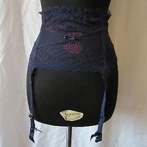 Chantelle Opera Waist Cincher/suspender Belt Sz M Deep Blue Photo