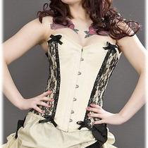 Chantelle Overbust Cream Taffeta Corset by Burleska 28 Cream Photo