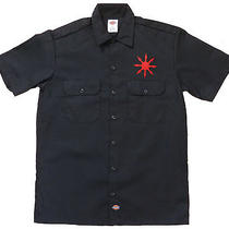 Chaos Star Embroidered Dickies Work Shirt - Bolt Thrower Wormrot Death Metal Photo