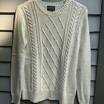 Chap's Classic by Ralph Lauren Pullover Sweater With Gold Threads Woman's Medium Photo