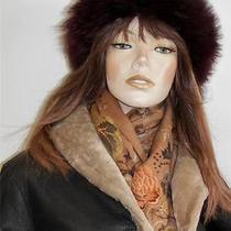 Chapeaux Motsch Pour Hermes Brown Fur-Trimmed Cashmere Blend Hatm55hermes Box Photo