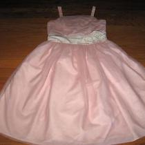 Chaps 16 Xl Xxl Pink Blush Tulle Rosette Sleeveless Dress Formal Holiday Party  Photo