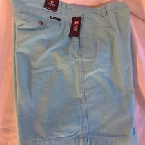 Chaps Mens Turquoise Chinos Nwt Size 34 Shorts Retail 49.50  Photo