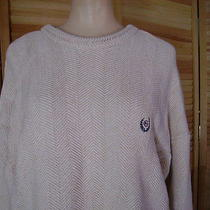 Chaps Ralph Lauren Beige Cotton Sweater Mens Size Xl Photo