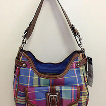 Chaps (Ralph Lauren) Birmingham Buckle Blue Island Plaid Hobo Photo