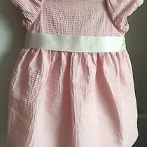 Chaps Ralph Lauren Girls 24 Mo Shortsleeve Blush Pink Cotton Dress Spring Summer Photo