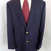Chaps Ralph Lauren Men's Sport Coat Sz 43 T Navy Wool Blazer 2 Button Jacket  Photo