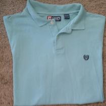 Chaps Ralph Lauren Mens Xxl S/s Spring Season Shirt Aqua Green Polo 2x Collar  Photo