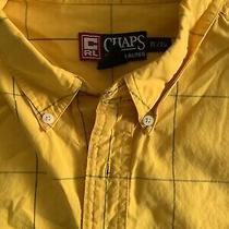 Chaps Ralph Lauren(xl/ Xg) Mens Gold/ Navy Blue Long Sleeve Button Shirt Photo