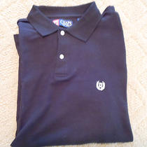 Chaps Solid Aqua Polo Shirt L Photo