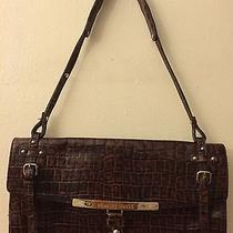Charles David Brown  Cocktail Party Purse Bag Faux Croc Photo