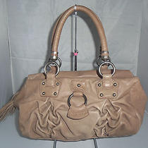 Charles David Satchel Shoulder Bag Handbag Hobo Purse Tote Light Brown 248 Photo