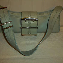 Charles David Shoulder Bag Aqua Blue Green All Leather Satchel Purse Nwot  Photo