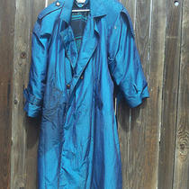 Charles Klein Aqua Green Blue Velvet Like Overcoat Jacket Size 18&12 Beautiful  Photo