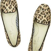 Charles Philip Shanghai Sheila Leopard-Print Matte-Satin Slippers 8.5 Photo