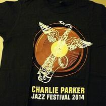 Charlie Parker 2014 Jazz Festival Tee Shirt Unisex  Size Small Slim 100% Cotton Photo