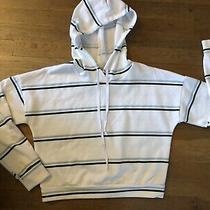 Charlotte Russe Baby Blue Green Preppy Hoodie Sweatshirt Top S M Photo