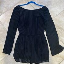 Charlotte Russe Black Long Sleeve Romper Silky Material Size Small Womens Photo