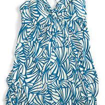 Charlotte Russe Blue & White Dress M Photo
