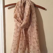 Charlotte Russe Blush Bird Print Scarf Nwot Photo