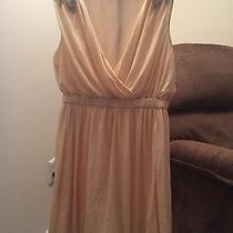 Charlotte Russe Blush Chiffon Dress Large  Photo