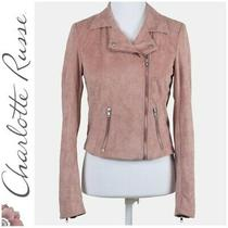 Charlotte Russe Blush Pink Zip Up Jacket Blazer Coat Sz S Photo