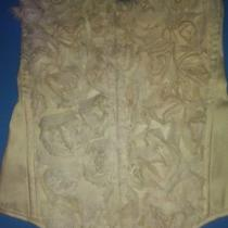 Charlotte Russe Cream Roses Corset Top Size Med Photo