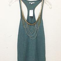 Charlotte Russe Forest Green Top With Embellished Necklaces Photo