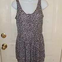 Charlotte Russe Gray Floral Print Romper Size Small Women's Nwd Photo