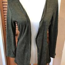 Charlotte Russe Green Loose Cardigan Sweater Size Medium Photo