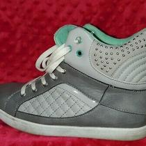 Charlotte Russe Grey Teal & Silver Sneakers Women's Size 8 Shoes Photo
