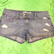 Charlotte Russe Jean Shorts  Distressed Blue Denim Womens Size 10 Photo