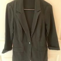 Charlotte Russe Junior's Black One-Button Blazer Medium Three Quarter Sleeves Photo