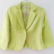 Charlotte Russe Nwt Womens 5 Xs S M Green 3/4 Sleeve Collar Casual Blazer Jacket Photo