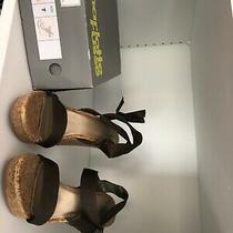 Charlotte Russe Olive Fabric Wedges Size 7 Photo