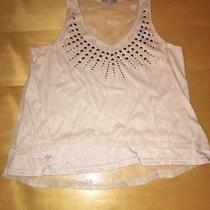 Charlotte Russe Studded Women's Small S Top Sheer Tank Top Used Clean Photo